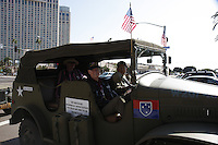 Carl Dustin participates in the Veterans Day Parade in downtown San Diego, California, Saturday November 10, 2007.  Dustin is the Mount Soledad Memorial's Veteran of the Year.