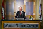 Editorial portrait photography of W. Dan Hendrix, President and CEO of the Arkansas World Trade Center in Rogers, Arkansas.
