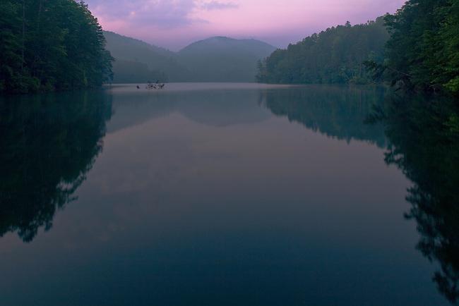 Early light on Lake Tugalo, Habersham and Rabun County, Georgia