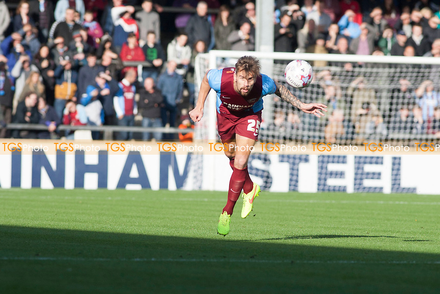 Andrew Boyce of Scunthorpe U<br />  - Scunthorpe United vs Notts County - Sky Bet League One Football at Glanford Park, Scunthorpe, Lincolnshire - 25/10/14 - MANDATORY CREDIT: Mark Hodsman/TGSPHOTO - Self billing applies where appropriate - contact@tgsphoto.co.uk - NO UNPAID USE