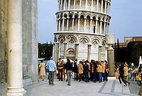 Italy: Pisa--Base of Leaning Tower. PHoto '83.