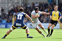 Nathan Catt of Bath Rugby goes on the attack. Aviva Premiership match, between Worcester Warriors and Bath Rugby on April 15, 2017 at Sixways Stadium in Worcester, England. Photo by: Patrick Khachfe / Onside Images