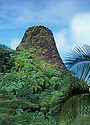 Pwusehn Malek (also known as Chickenshit Mountain), a volcanic plug; Pohnpei, Micronesia.