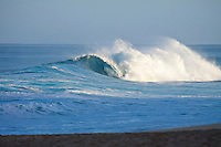 Haleiwa Hawaii, (Wednesday November 16, 2010) .An empty wave rolls into Backdoor..Photo: joliphotos.com