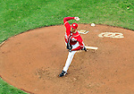24 April 2010: Washington Nationals' pitcher Craig Stammen on the mound against the Los Angeles Dodgers at Nationals Park in Washington, DC. The Dodgers edged out the Nationals 4-3 in a thirteen inning game. Mandatory Credit: Ed Wolfstein Photo