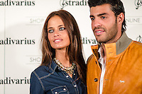 "Miguel Torres and his girlfriend  Stradivarius store for the collection ""Fiesta'12 party  in Madrid"