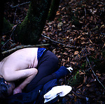 An unidentified man lies dead from what appears to be an overdose  in Aokigahara Jukai, better known as the Mt. Fuji suicide forest, which is located at the base of Japan's famed mountain west of Tokyo, Japan on Dec 1 2009.