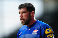 Jim Hamilton of Saracens looks on during a break in play. Aviva Premiership match, between Leicester Tigers and Saracens on March 20, 2016 at Welford Road in Leicester, England. Photo by: Patrick Khachfe / JMP
