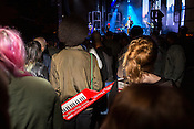 Durham, North Carolina - Thursday May 19, 2016 - Jon Fuller and keytar at the Blood Orange show Thursday night at the Motorco stage.