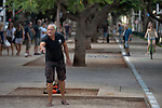 ISRAEL Tel Aviv<br /> Raphael Jerusalmy plays 'Petanque' at Rothschild Boulevard.
