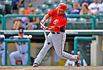 6 March 2012: Washington Nationals catcher Sandy Leon in action during a Spring Training game against the Atlanta Braves at Champion Park in Disney's Wide World of Sports Complex, Orlando, Florida. The Nationals defeated the Braves 5-2 in Grapefruit League action. Mandatory Credit: Ed Wolfstein Photo