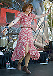 Grouplove's Hannah Hooper performs at the KROQ Weenie Roast y Fiesta Saturday in Irvine, CA. ....