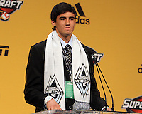 Omar Salgado first pick in the 2011 draft at the 2011 MLS Superdraft, in Baltimore, Maryland on January 13, 2010.