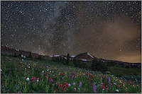 I crawled out of my bed at 2:00am to make the the trek back to Butler Gulch - my last trip up here for the summer of 2014. I wanted to shoot the Colorado wildflowers that are so plentiful under the Milky Way. When I left my place in Winter Park, the skies were clear. By the time lined up my tracking device and got everything focused, the clouds started drifing through. <br />