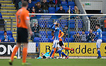St Johnstone v Dundee United&hellip;02.04.16  McDiarmid Park, Perth<br />Alan Mannus howler gifts Ryan Dow a goal<br />Picture by Graeme Hart.<br />Copyright Perthshire Picture Agency<br />Tel: 01738 623350  Mobile: 07990 594431