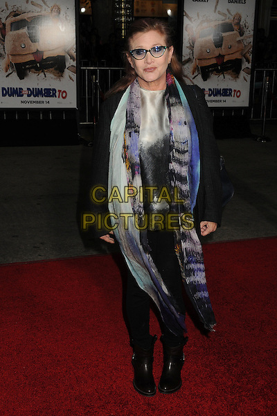 3 November 2014 - Westwood, California - Carrie Fisher. &quot;Dumb And Dumber To&quot; Los Angeles Premiere held at the Regency Village Theatre. <br /> CAP/ADM/BP<br /> &copy;BP/ADM/Capital Pictures