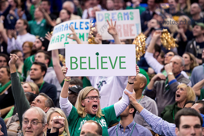 Mar. 28, 2015; Notre Dame fans cheer in the second half of the 2015 NCAA Tournament regional final against Kentucky. (Photo by Matt Cashore/University of Notre Dame)
