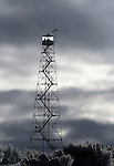 Activists pull sentry duty in a tower at the Malheur National Wildlife Reserve on January 15, 2016 in Burns, Oregon.  Ammon Bundy and about 20 other protesters took over the refuge on Jan. 2 after a rally to support the imprisoned local ranchers Dwight Hammond Jr., and his son, Steven Hammond.    ©2016. Jim Bryant Photo. All Rights Reserved.