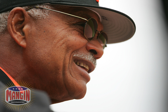 Manager Felipe Alou. Baseball: Milwaukee Brewers vs San Francisco Giants. April 23, 2005 at AT&T Park in San Francisco.