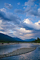 Clouds over Quinault River, Olympic National Forest, Washington.