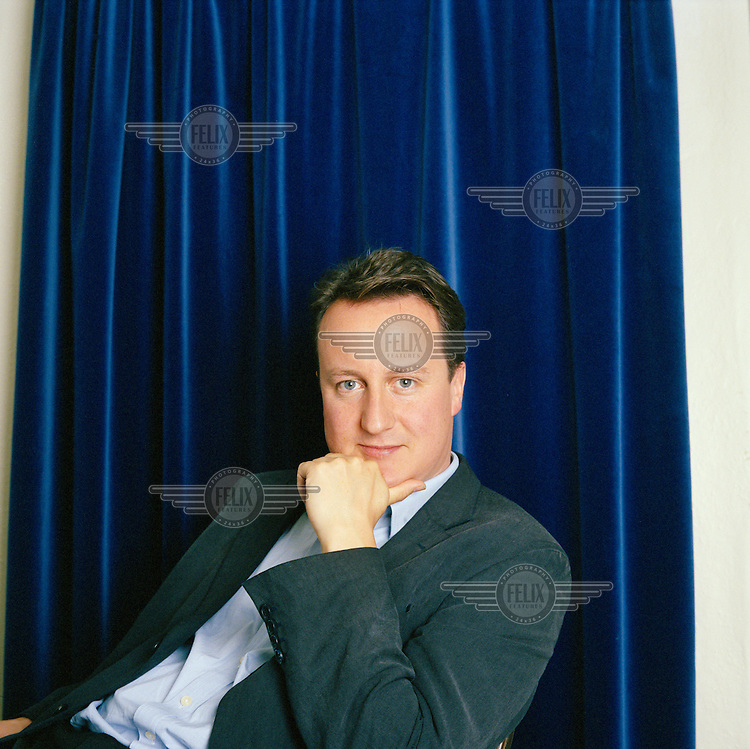 Politician David Cameron MP,  Leader of the British Conservative Party.