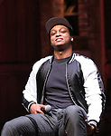 "J. Quinton Johnson from the 'Hamilton' cast during a Q & A before The Rockefeller Foundation and The Gilder Lehrman Institute of American History sponsored High School student #EduHam matinee performance of ""Hamilton"" at the Richard Rodgers Theatre on 5/10/2017 in New York City."