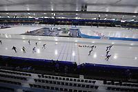 SCHAATSEN: HEERENVEEN: 04-11-2016, IJsstadion Thialf, eerste ijstraining na de ver(nieuw)bouw, trainingsclub, ©foto Martin de Jong