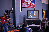 Manchester, New Hampshire<br /> January 5, 2008<br /> <br /> During a debate with first the Republicans and then the Democrats at Aselm College. <br /> The press room with thousands of journalists from around the world.
