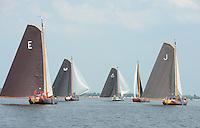 ZEILEN: SNEEK: Snitser Mar, 01-08-2014, SKS skûtsjesilen, finalewedstrijd, ©foto Martin de Jong