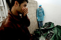 Charred remains are stored in the morgue of Jalo general hospital in Benghazi. The hospital claims that they were Gaddafi's soldiers killed and set alight by protesters. On 17 February 2011 Libya saw the beginnings of a revolution against the 41 year regime of Col Muammar Gaddafi. .