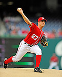 1 May 2011: Washington Nationals starting pitcher Jordan Zimmermann on the mound against the San Francisco Giants at Nationals Park in Washington, District of Columbia. The Nationals defeated the Giants 5-2. Mandatory Credit: Ed Wolfstein Photo