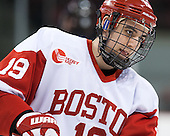 Matt Nieto (BU - 19) - The visiting Northeastern University Huskies defeated the Boston University Terriers 6-5 on Friday, January 18, 2013, at Agganis Arena in Boston, Massachusetts.
