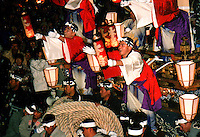 "Japan, Saitama, 1999. Three days of joyous winter celebrations culminate in the drawing of huge floats, or ""yatai,"" through the streets."