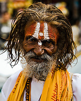 This friendly Sadhu has a characterful face. (Photo by Matt Considine - Images of Asia Collection)