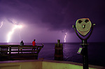 Lightning in Tampa Bay from the Pier in St. Petersburg, FL.