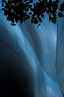 Close up photograph of a section at the Walt Disney Concert Hall in downtown Los Angeles, CA designed by Mr. Frank Gehry.