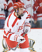 Charlie Coyle (BU - 3) - The visiting Boston College Eagles defeated the Boston University Terriers 3-2 to sweep their Hockey East series on Friday, January 21, 2011, at Agganis Arena in Boston, Massachusetts.