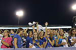 Students cheer at Big Blue U at Commonwealth Stadium on August 18th, 2012. During K Week the freshman get introduced to the cheers and fight song by coaches and staff. Photo by Genevieve Adams | Staff