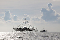 Bagang or Anchovy Fishing Platform, Sabah, Borneo