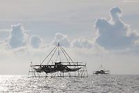 Bagang or Anchovy Fishing Platform, Sabah, Borneo
