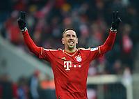 FUSSBALL   1. BUNDESLIGA  SAISON 2012/2013   23. Spieltag  FC Bayern Muenchen - SV Werder Bremen    23.02.2013 JUBEL FC Bayern Muenchen; Franck Ribery