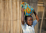 A boy in the Congolese village of Wembo Nyama..