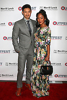 LOS ANGELES, CA - OCTOBER 23: Harry Shum Jr. and Shelby Rabara at the 2016 Outfest Legacy Awards at Vibiana in Los Angeles, California on October 23, 2016. Credit: David Edwards/MediaPunch