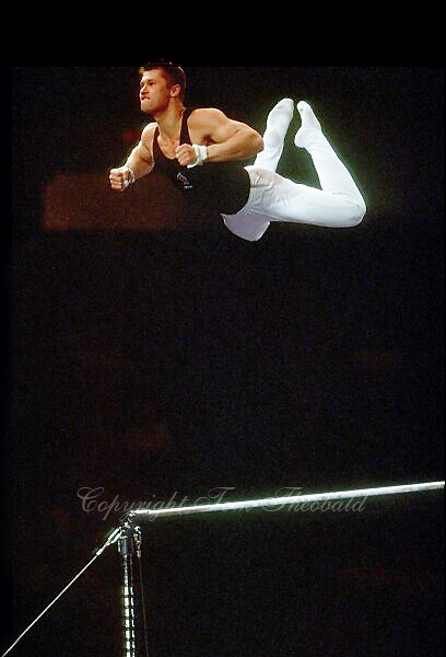 July 25, 1998; New York, NY, USA;  Artistic gymnast Aleksei Nemov of Russia performs on high bar at 1998 Goodwill Games New York. Copyright 1998 Tom Theobald