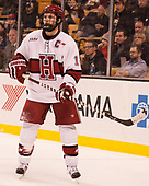 Alexander Kerfoot (Harvard - 14) - The Harvard University Crimson defeated the Northeastern University Huskies 4-3 in the opening game of the 2017 Beanpot on Monday, February 6, 2017, at TD Garden in Boston, Massachusetts.