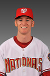 14 March 2008: ..Portrait of David Trahan, Washington Nationals Minor League player at Spring Training Camp 2008..Mandatory Photo Credit: Ed Wolfstein Photo