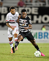 Orlando, FL - Saturday Jan. 21, 2017:  São Paulo forward W. Nem (21) and Corinthians left back Moisés (6) challenge for a ball during the first half of the Florida Cup Championship match between São Paulo and Corinthians at Bright House Networks Stadium.