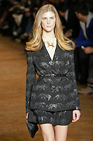 Lindsay Lullman walks runway in an outfit from the Marc by Marc Jacobs Fall/Winter 2011 collection, during New York Fashion Week, Fall 2011.