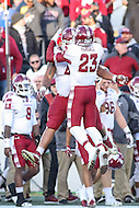 Annapolis, MD - December 3, 2016: Temple Owls defensive back Delvon Randall (23) celebrates during game between Temple and Navy at  Navy-Marine Corps Memorial Stadium in Annapolis, MD.   (Photo by Elliott Brown/Media Images International)