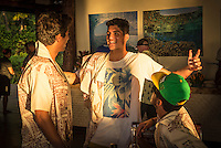 Namotu Island Resort, Namotu, Fiji. (Saturday May 31, 2014) Miguel Pupo (BRA), Gabriel Medina (BRA) and Filipe Toledo (BRA) –  The official Opening Ceremony for the 2014 Fiji Pro was held this afternoon on Tavarua Island with a tradition blessing and kava ceremony for the officials and Top 34 surfers. Photo: joliphotos.com